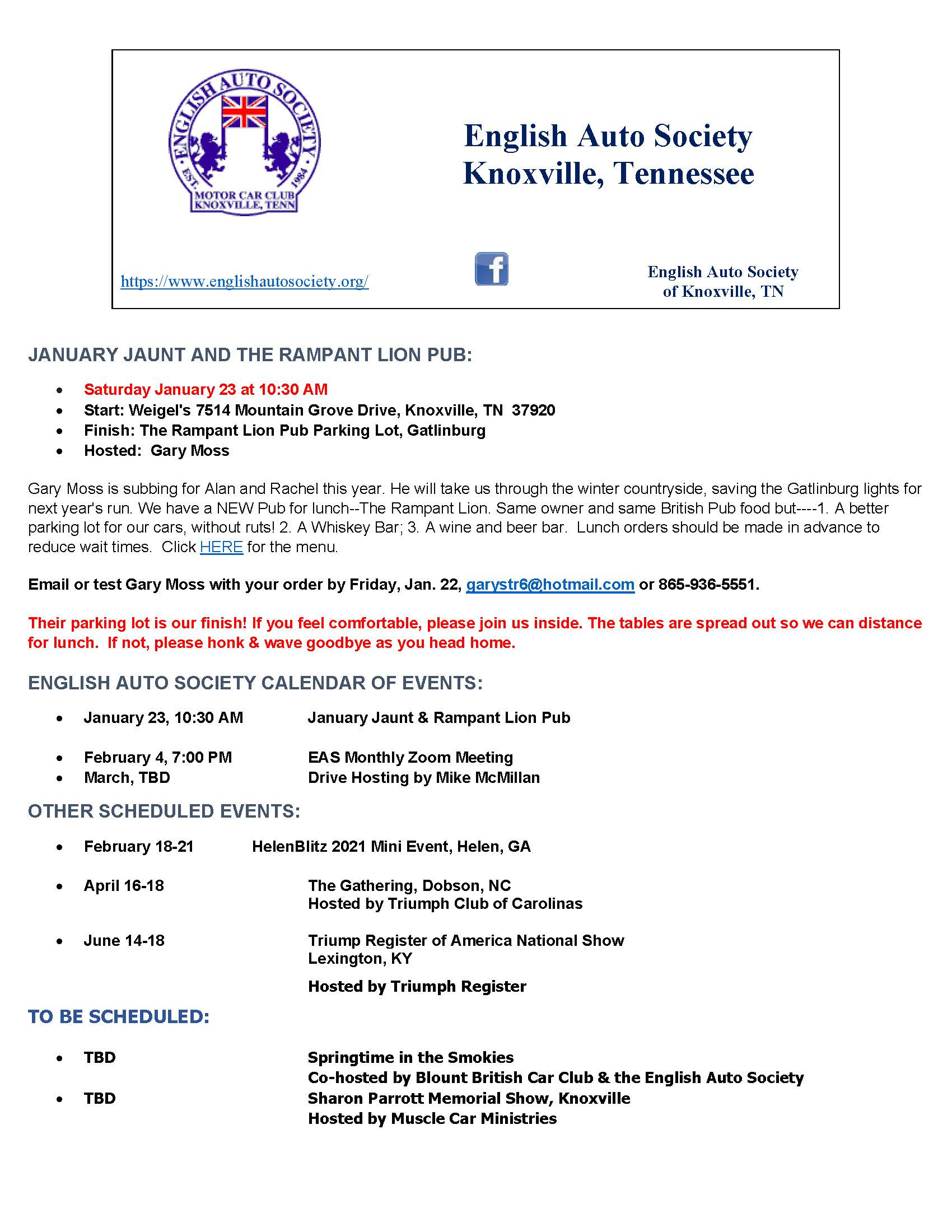 english auto society of knoxville